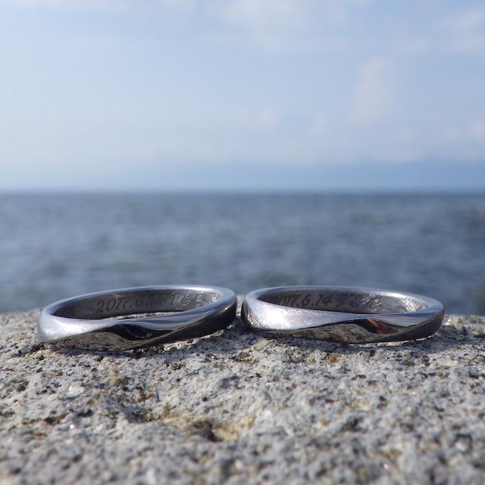 丈夫で珍しい希少金属・タンタルの結婚指輪 Tantalum Rings