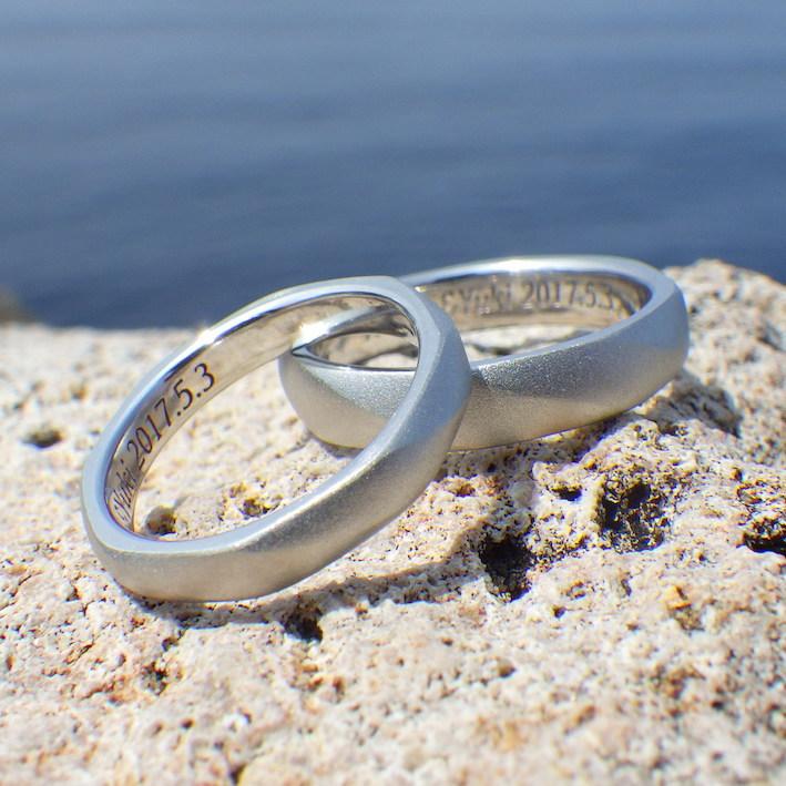 【パラジウムフリー】金属アレルギーに配慮したプラチナの結婚指輪 Platinum Rings