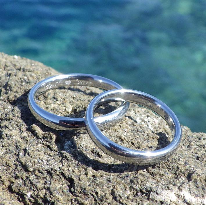 超希少で非常に美しい金属・ハフニウムの結婚指輪 Hafnium Rings