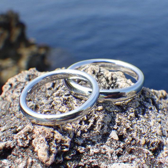 1000年後にも残る愛のかたち・イリジウムの結婚指輪 Iridium Rings