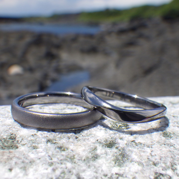 素材からオーダー出来る!こだわりの結婚指輪 Tantalum Rings