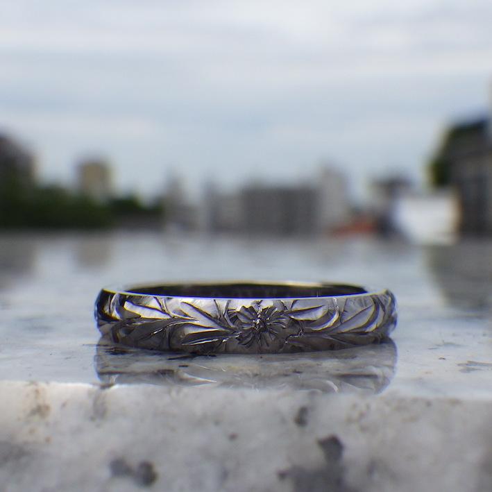 世にも珍しい一品!レアメタルのハワイアンジュエリー Tantalum Ring
