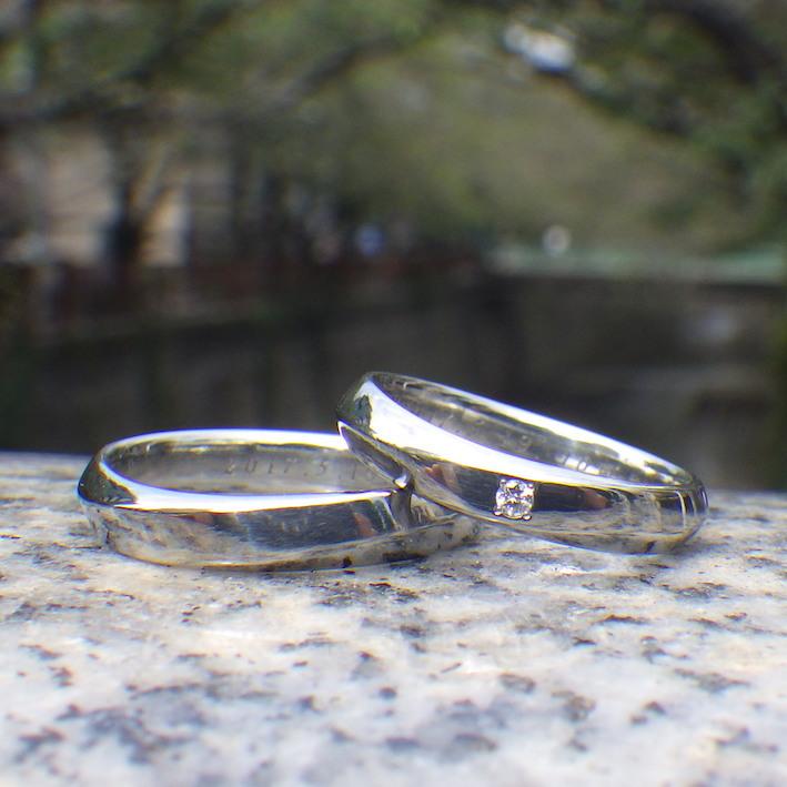 結婚10周年にハフニウムの指輪を・プラチナの結婚指輪を作り替え Hafnium Rings
