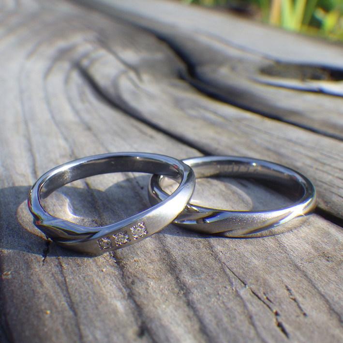 思い通りのオーダーメイド・タンタルの結婚指輪 Tantalum Rings