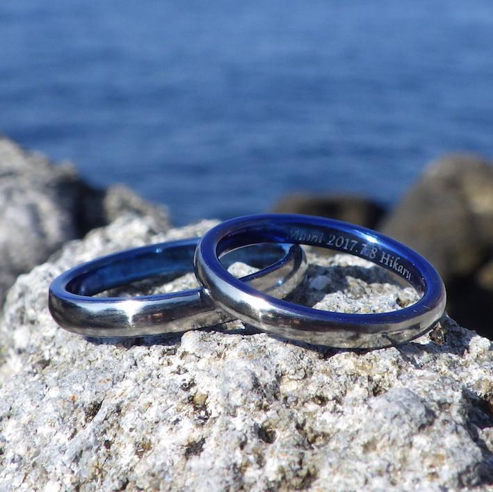 ハフニウムの青い指輪・美しいロイヤルブルー Hafnium Rings