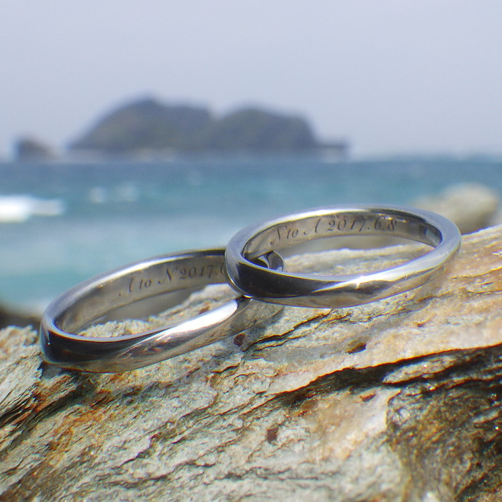 アレルギーフリー・メンテナンスフリーのハフニウムの結婚指輪 Hafnium Rings