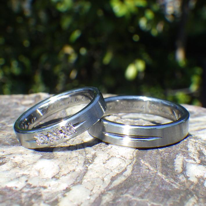 ハフニウムとダイヤモンドの組み合わせの美しさ!ハフ二ウムの結婚指輪 Hafnium Rings