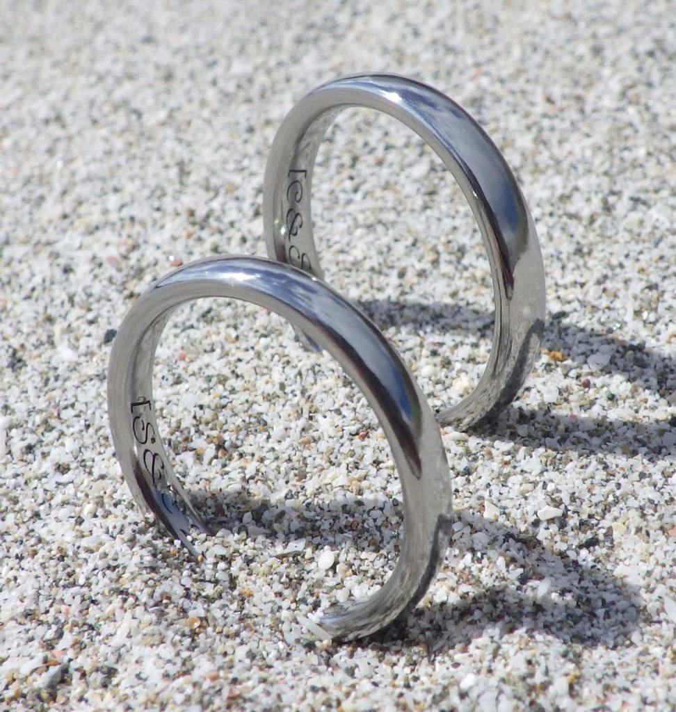 アトピー・金属アレルギーでも安心のレアメタル素材・ハフニウムの結婚指輪 Hafnium Rings