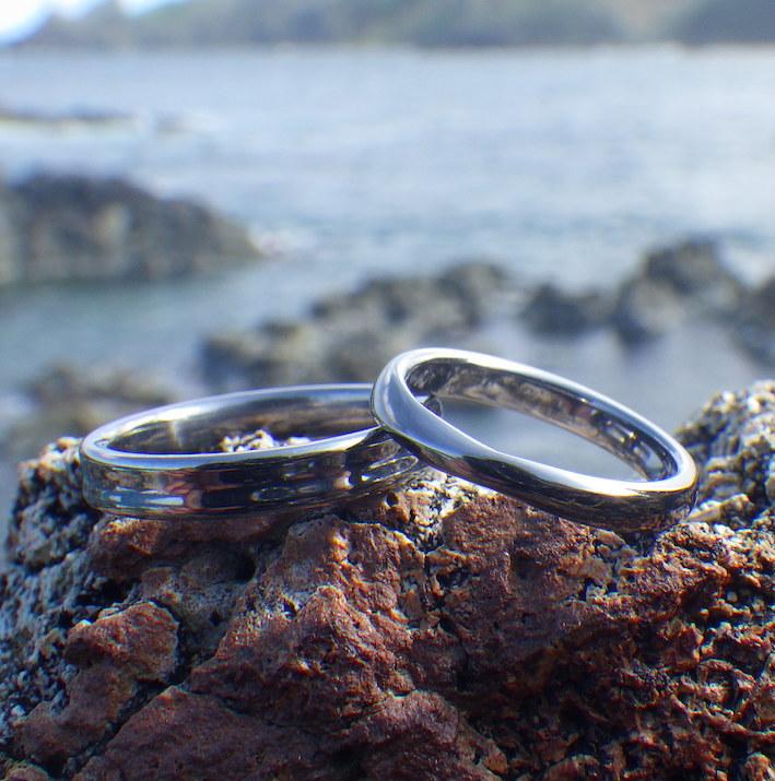 愛のかたちを指輪の造形に・タンタルの結婚指輪 Tantalum Rings
