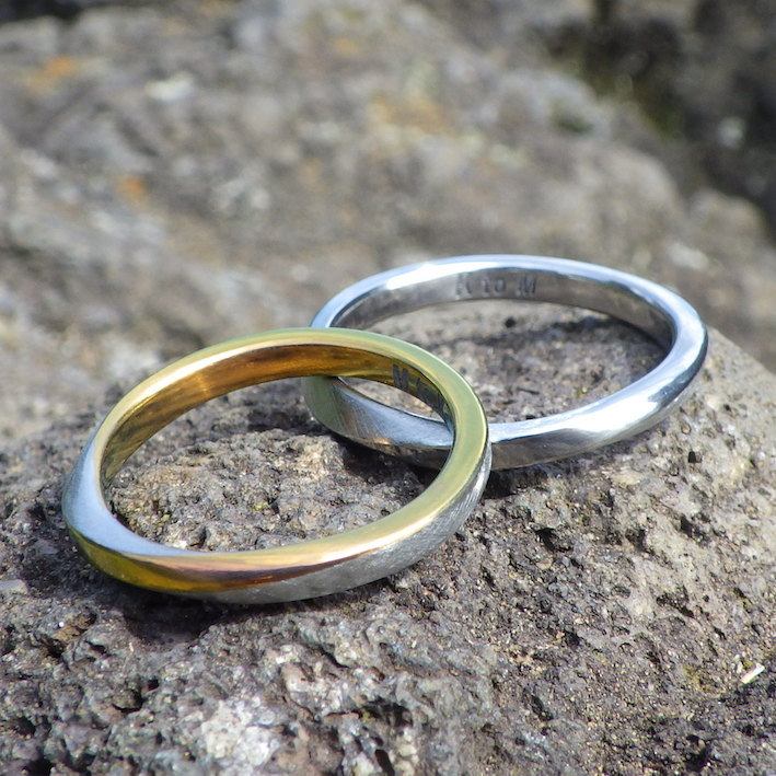 お気に入りのデザインを金属アレルギーにならないジルコニウムで作り替え Zirconium Rings