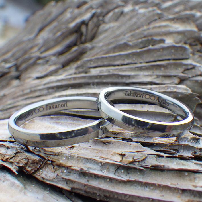 安全で快適なハフニウムの結婚指輪 Hafnium Rings