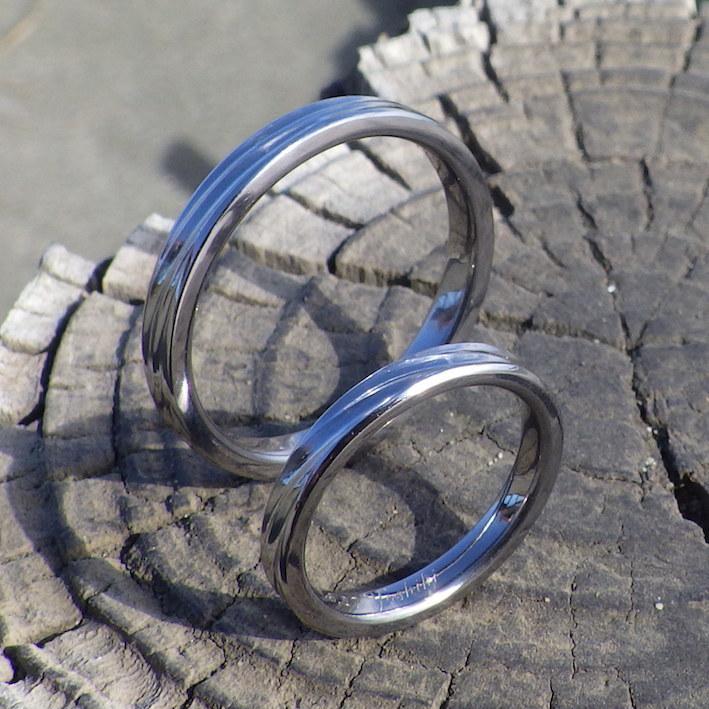 かっこいい希少金属・タンタルの結婚指輪 Tantalum Rings