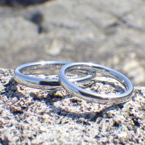 5ヶ月待ちの究極の指輪・イリジウムの結婚指輪 Iridium Rings