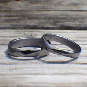 安全で心地よいタンタルの結婚指輪 Tantalum Rings