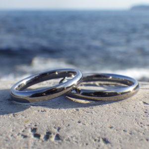 安心安全で、究極の着け心地!タンタルの結婚指輪 Tantalum Rings