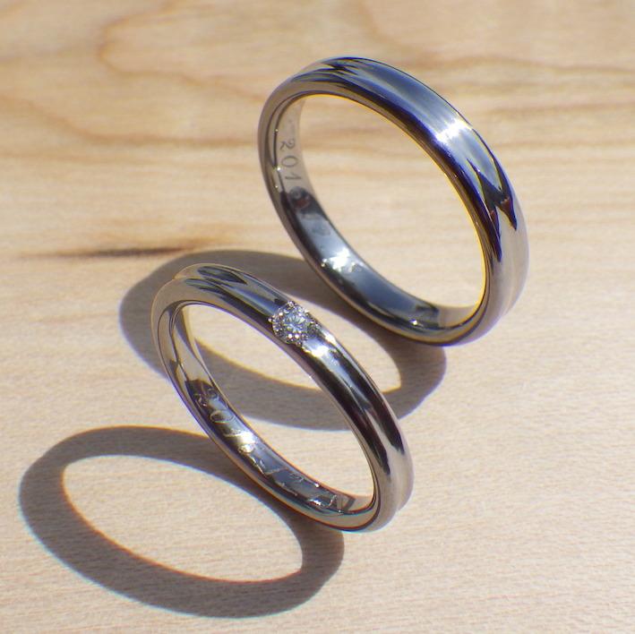 職人が相談に乗って制作するオーダーメイド・タンタルの結婚指輪 Tantalum Rings
