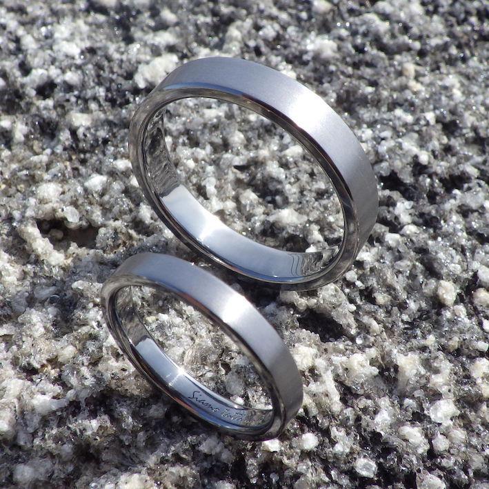 制作ストーリーも楽しい思い出・タンタルの結婚指輪 Tantalum Rings