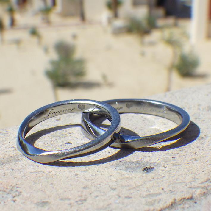 金属アレルギーで指輪を諦めている方へ、感涙のハフニウムの結婚指輪 Hafnium Rings
