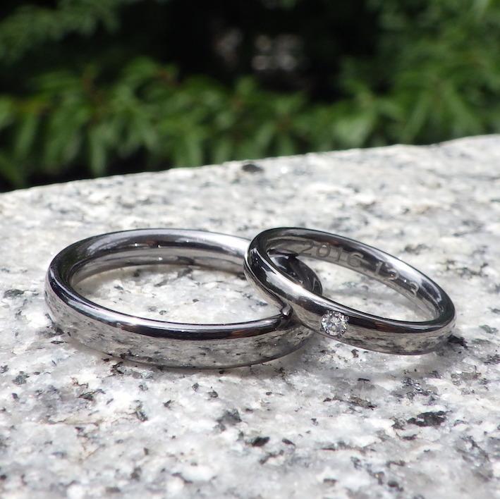 永遠の定番!ダイヤモンドが輝くタンタルの結婚指輪 Tantalum Rings