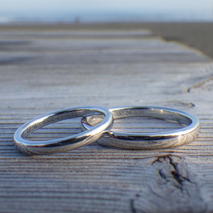 貴金属の王様、希少金属イリジウムの結婚指輪 Iridium Rings