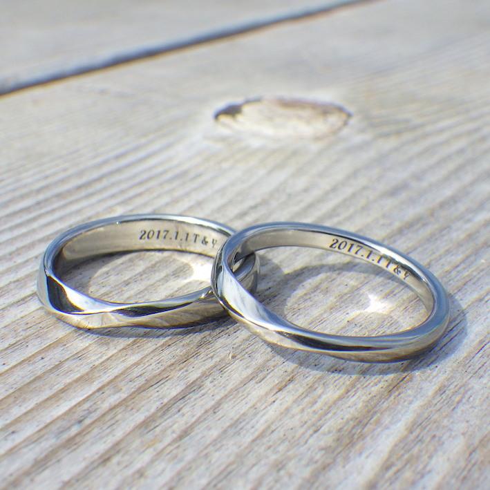 唯一無二の素材の色!ハフニウムの結婚指輪 Hafnium Rings