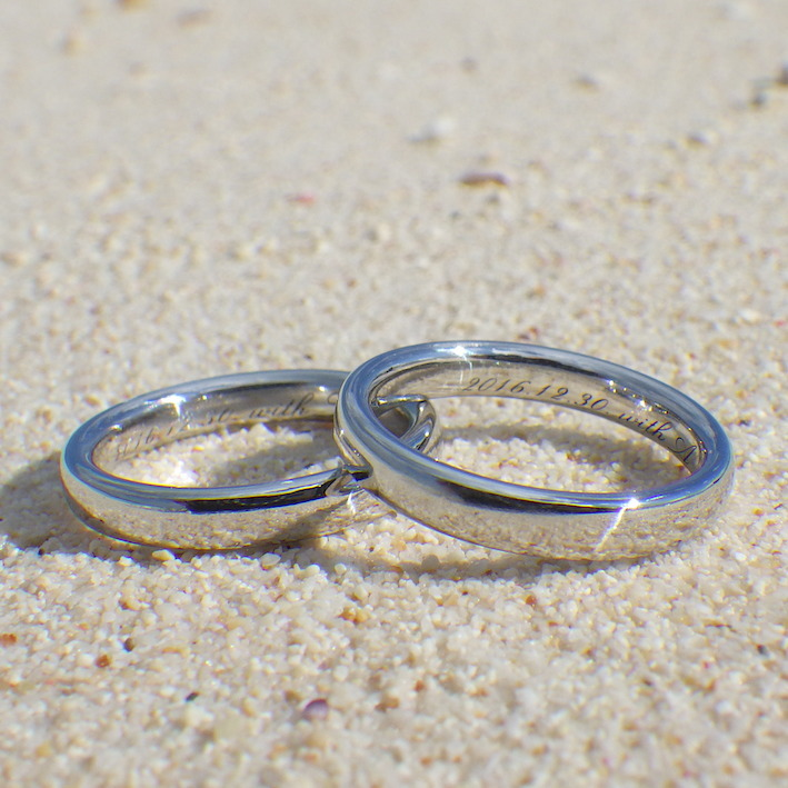 想像を超える美しさ!イリジウムの結婚指輪 Iridium Rings