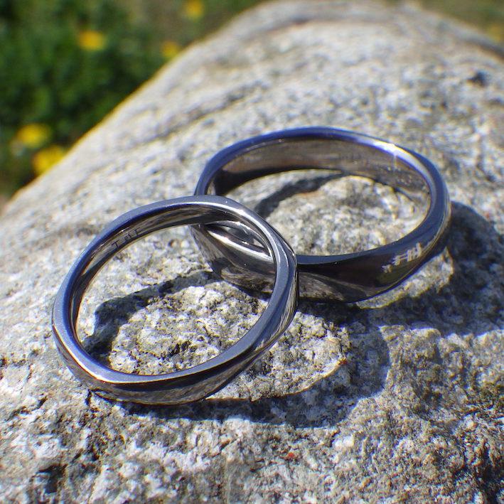 超難削材タンタルを精密に造形!タンタルの結婚指輪 Tantalum Rings