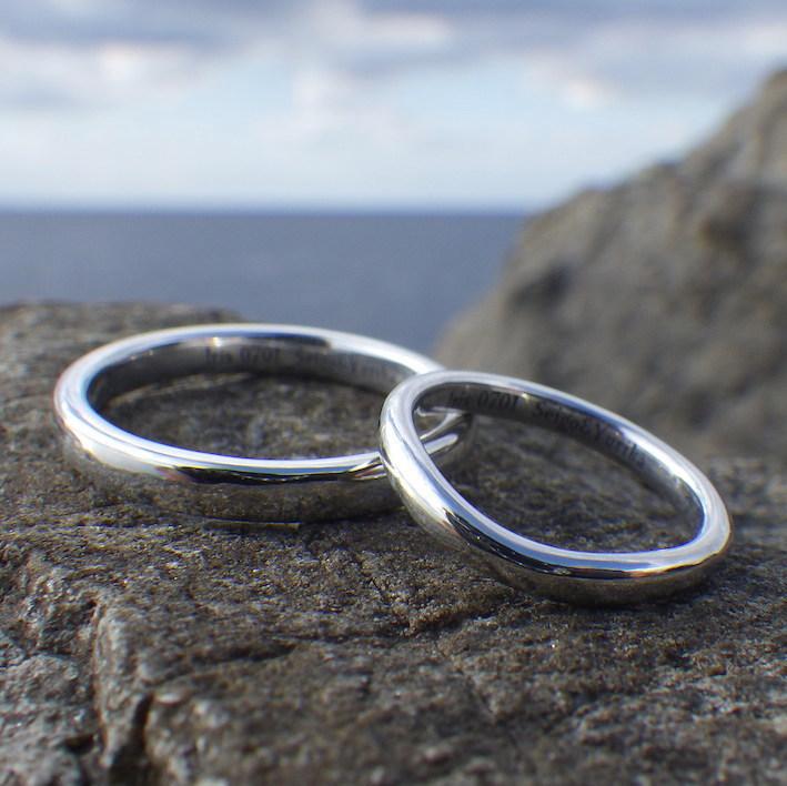 世界で唯一!代官山工房のイリジウムの結婚指輪 Iridium Rings