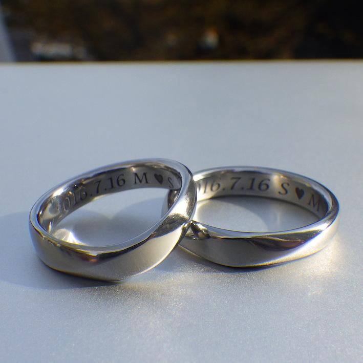 世界でたった1つ。代官山工房のハフニウムの結婚指輪 Hafnium Rings