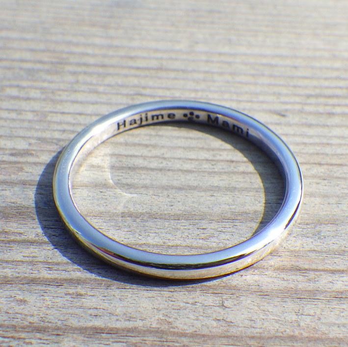 シンプルでぴったりフィットのイリジウムの指輪 Iridium Ring