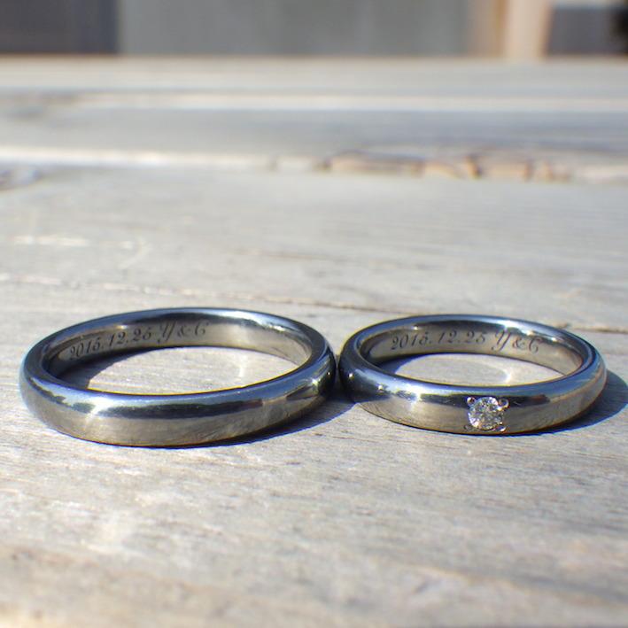 代官山工房の自信作・ハフニウムの結婚指輪 Hafnium Rings