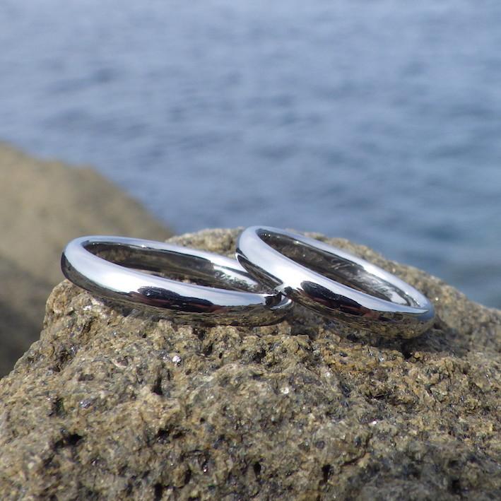 なにも装飾はいらないハフニウムの美しさ Hafnium Ring