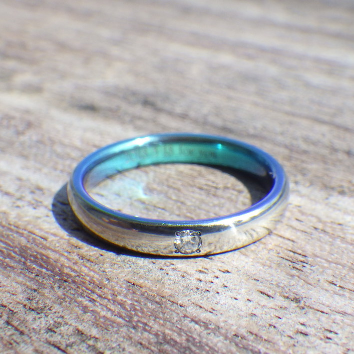 ジルコニウムの婚約指輪をサプライズで!Zirconium Ring