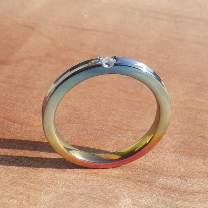発色が美しい!ジルコニウムのエンゲージリング Zirconium Rings