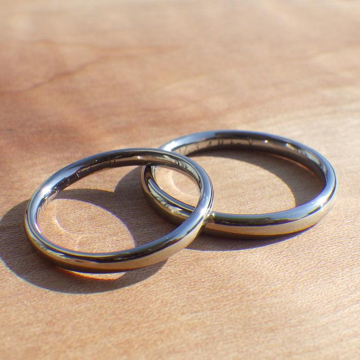 ストレスフリーの最高の素材・ハフニウムの結婚指輪 Hafnium Rings
