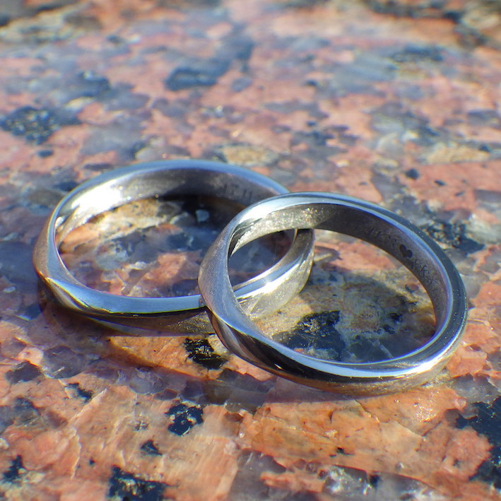 永遠のシンボル・メビウスの輪のタンタルの結婚指輪 Tantalum Rings