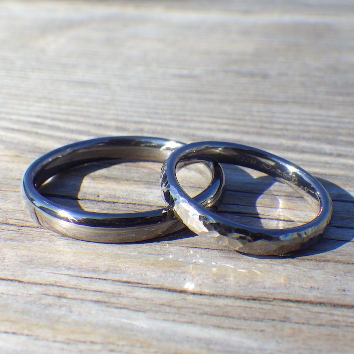 生涯アレルギー心配がない安心感!タンタルの結婚指輪 Tantalum Rings