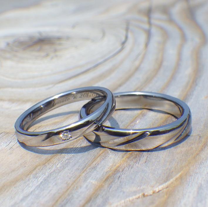 金属アレルギーにならない希少金属・タンタルの結婚指輪 Tantalum Rings