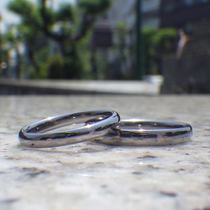 メールオーダーでも理想通り!タンタルの結婚指輪 Tantalum Rings
