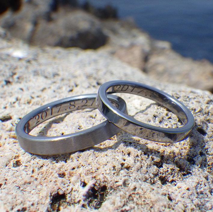 丈夫で一切腐食しない最高の素材・タンタルの結婚指輪 Tantalum Rings