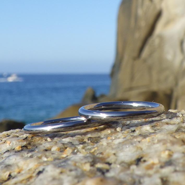 魅力的な光沢と質感!タンタルの結婚指輪 Tantalum Rings