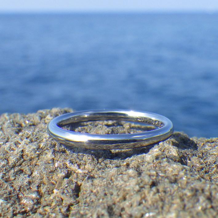 細くても曲がらない!ハフニウムで作る超丈夫な細い指輪 Hafnium Ring