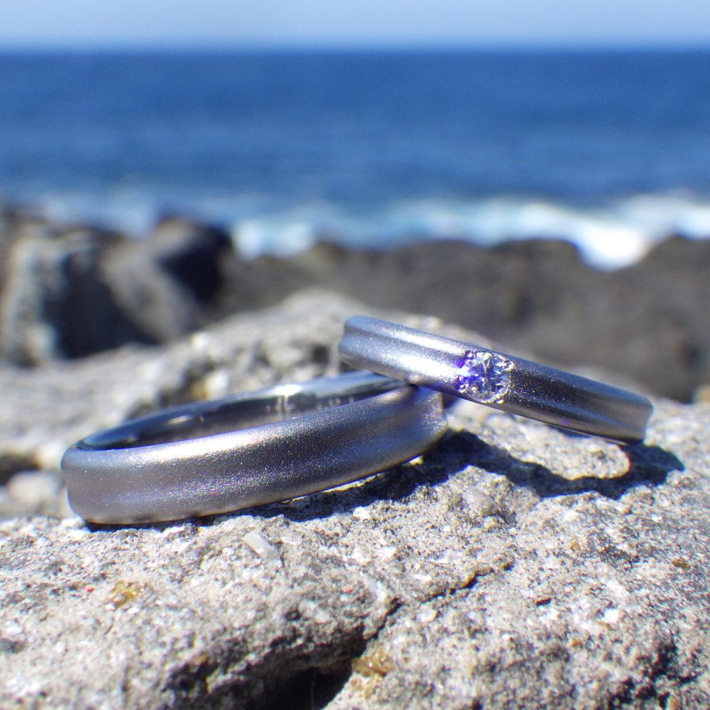 人とは違う素材、そしてデザイン。タンタルの結婚指輪 Tantalum Rings