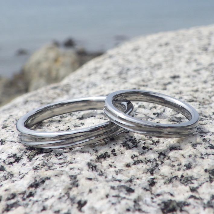 結婚指輪の未常識をかたちに・ハフニウムの結婚指輪 Hafnium Rings