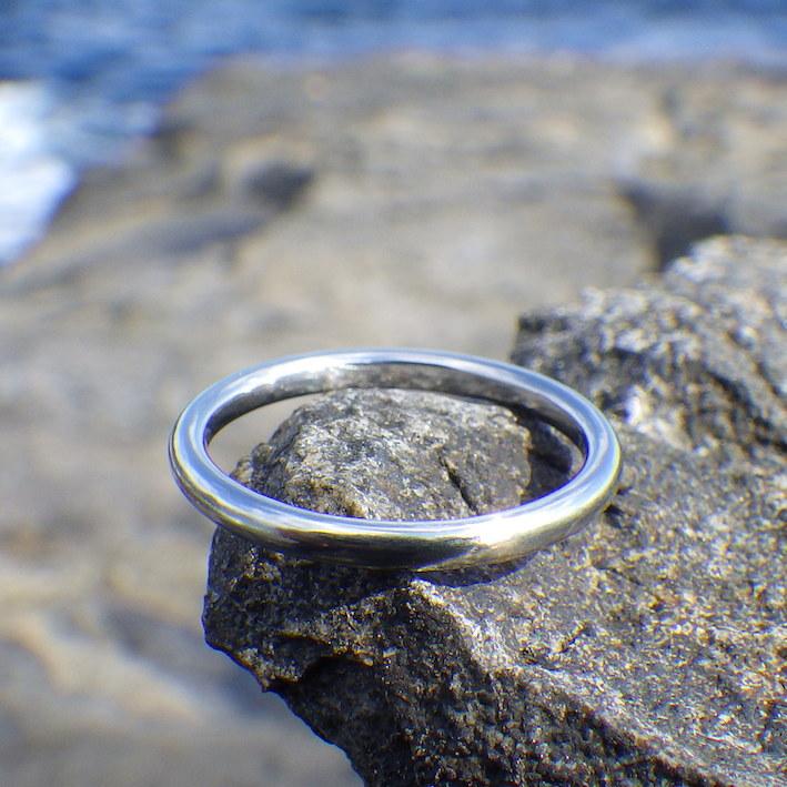 細い指輪でもとても丈夫!ハフニウムの結婚指輪 Hafnium Ring