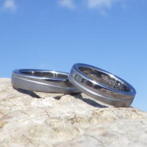 タンタルの様々な美しい表情!オーダーメイドの結婚指輪 Tantalum Rings