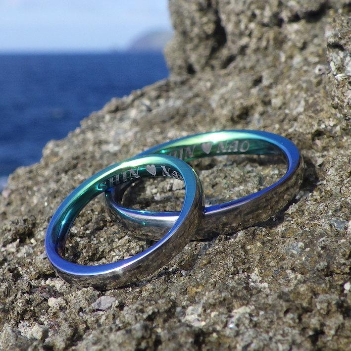 宮古島の海の色・ジルコニウムの結婚指輪 Zirconium Rings