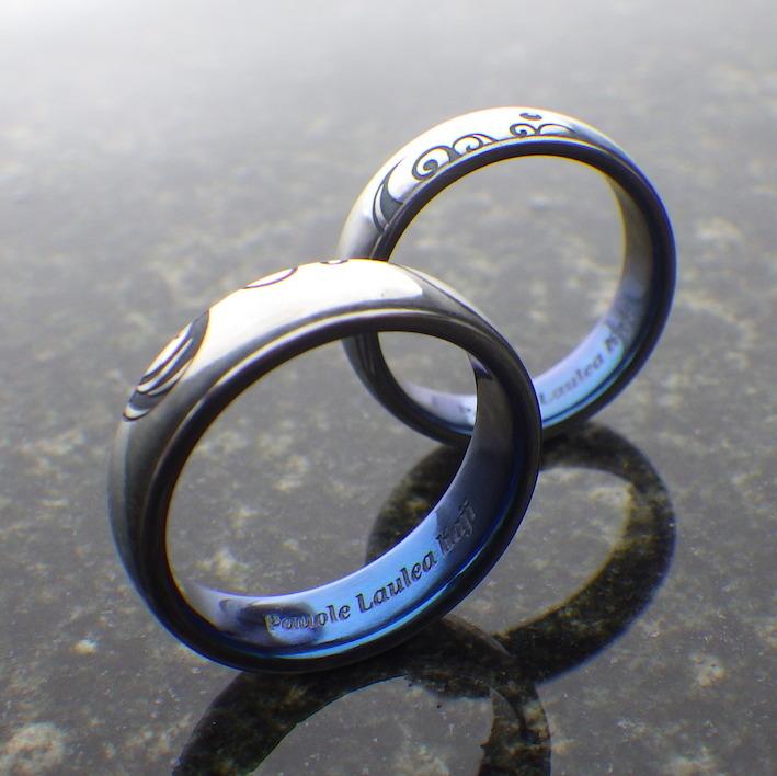 海のイメージをかたちに・ハフニウムの結婚指輪 Hafnium Rings