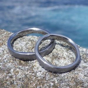 5枚花弁のデザイン・タンタルの結婚指輪 Tantalum Rings