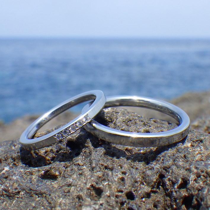 金属アレルギーでも着けられるダイヤモンドの輝き・ハフニウムの結婚指輪 Hafnium Rings